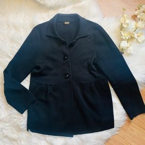 J. Crew Black Wool Sweater Medium